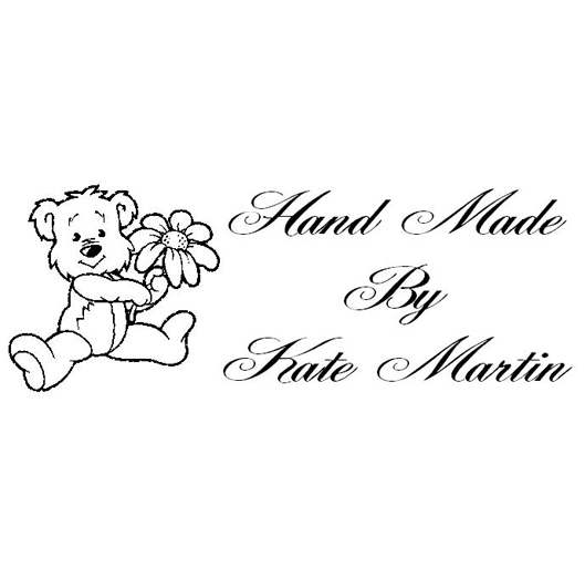 Hand Made By - Teddy Self Inking Rubber Stamp